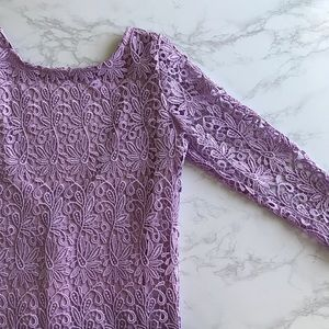 NWT lavender lace dress